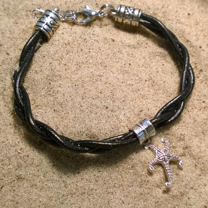 Starfish Leather Bracelet