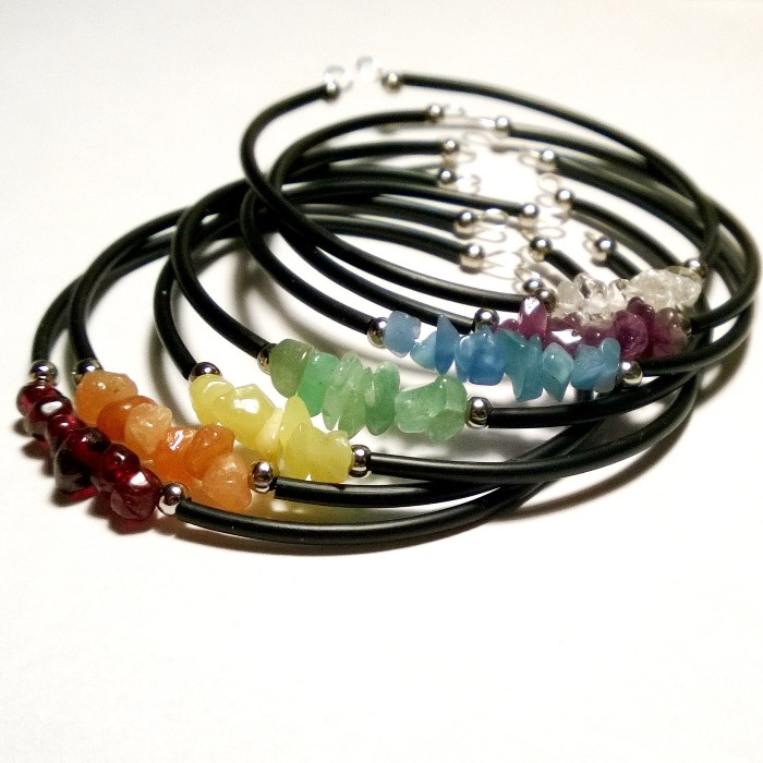Chakra Gemstone Bangle Set