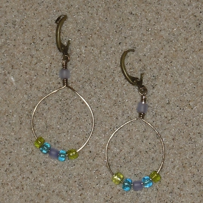 Bohemian Beads & Brass Earrings