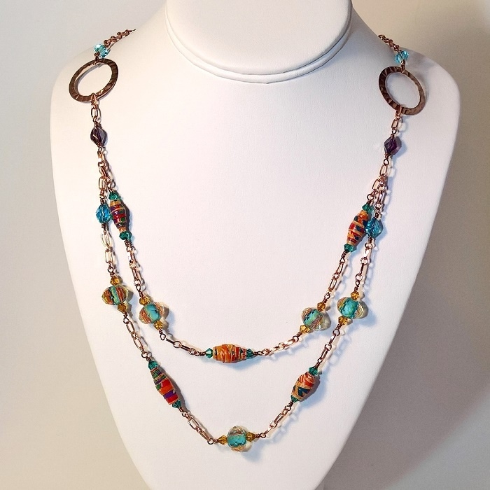 Painted Desert Copper Chain Necklace