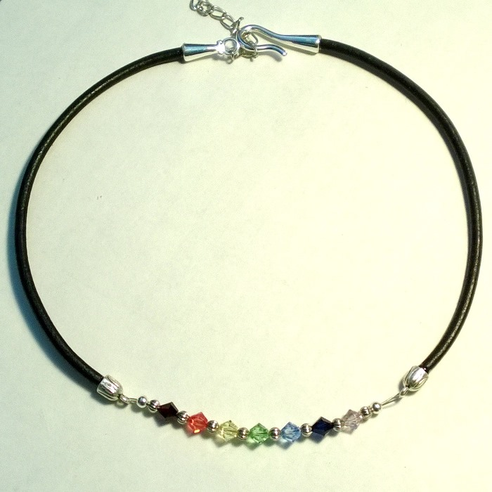 Pride Leather Choker